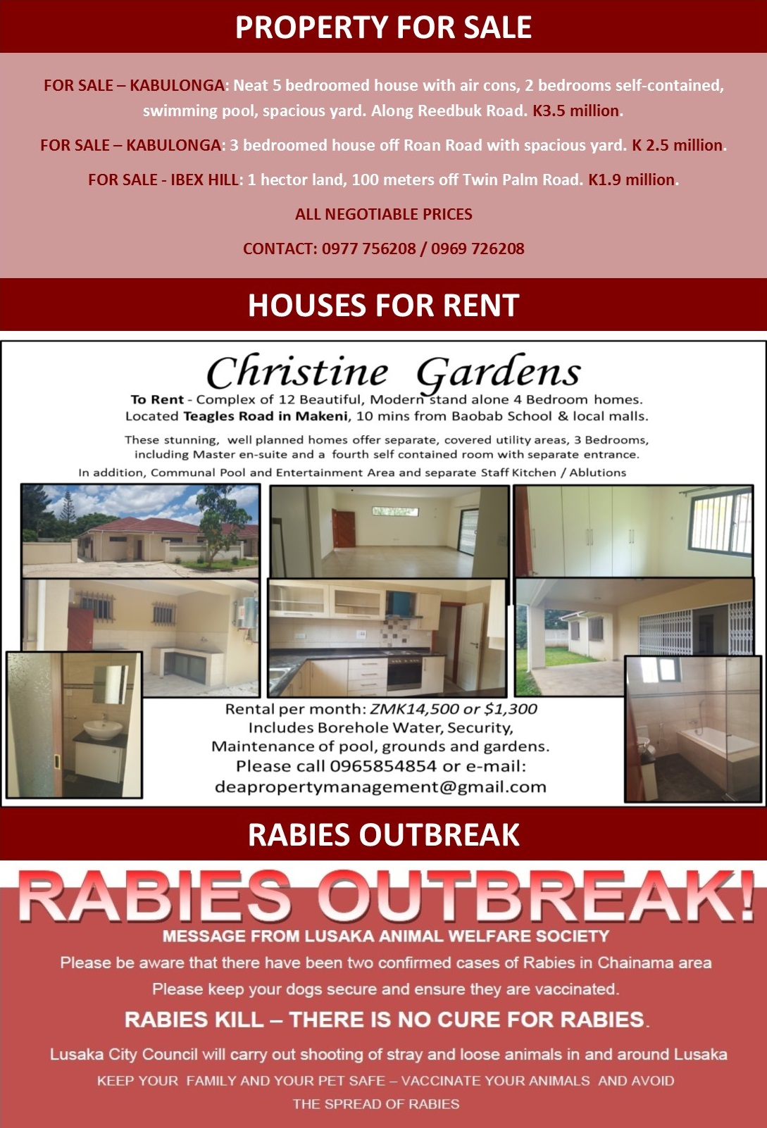 29 02 2016   houses for rent    rabies