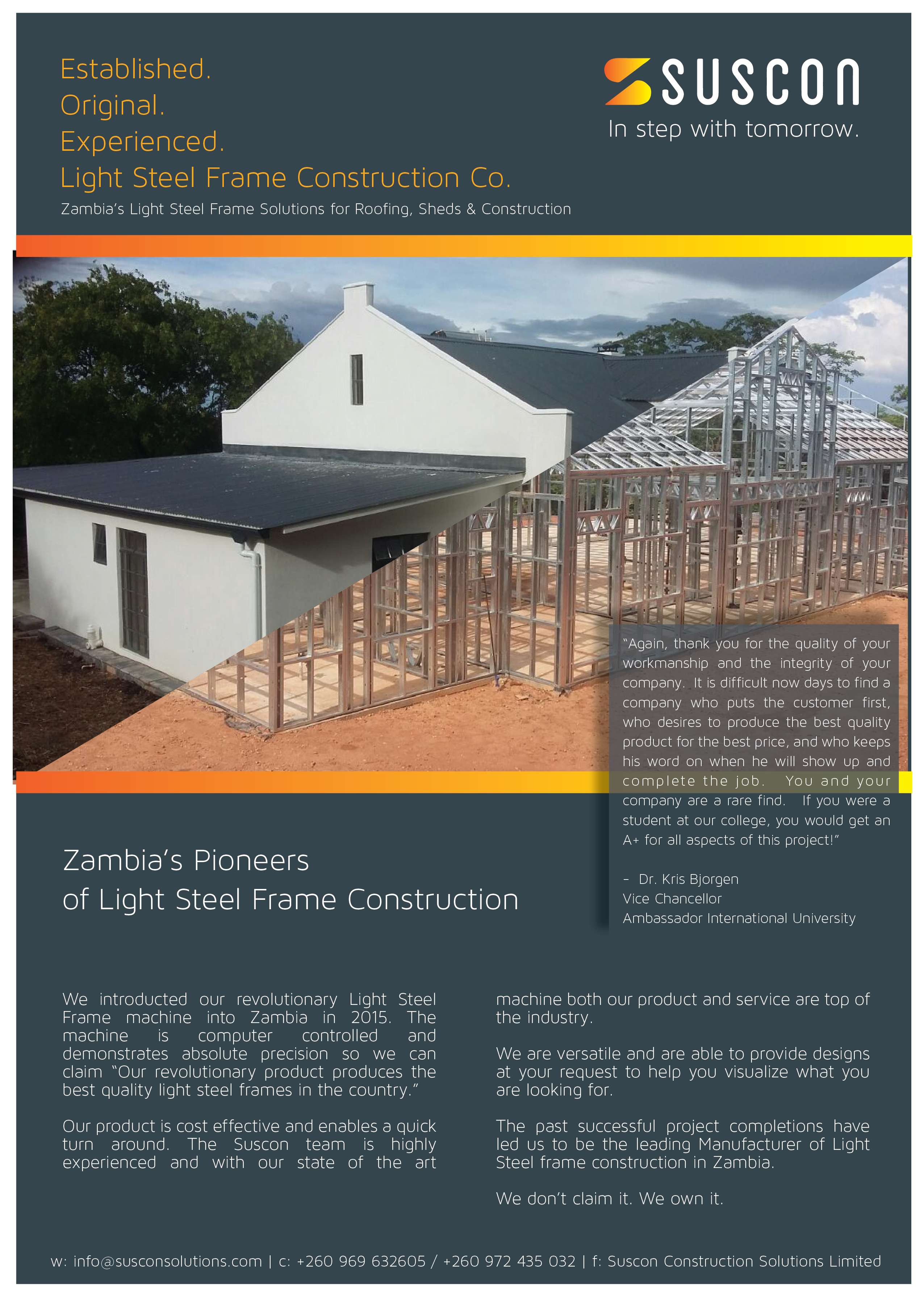 23.01.2017 - SUSCON – LIGHT STEEL FRAME CONSTRUCTION » Ad-dicts! In ...
