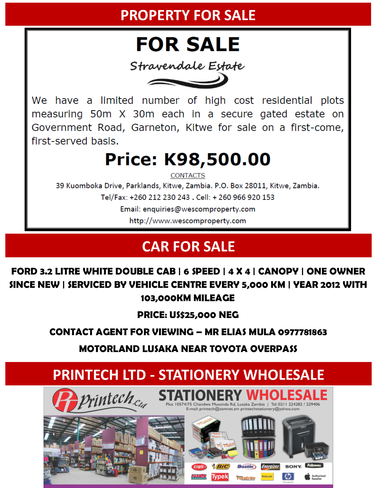 06.02.2017 - PROPERTY FOR SALE / CAR FOR SALE / PRINTECH ...