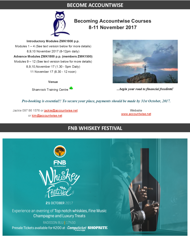 17.10.2017 – BECOME ACCOUNTWISE / FNB WHISKEY FESTIVAL