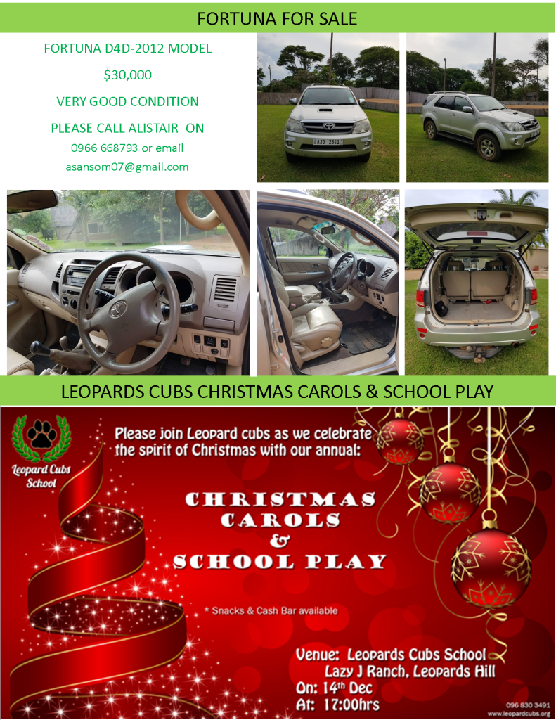 08.12.2017 – FORTUNA FOR SALE / LEOPARDS CUBS CHRISTMAS CAROLS & SCHOOL PLAY