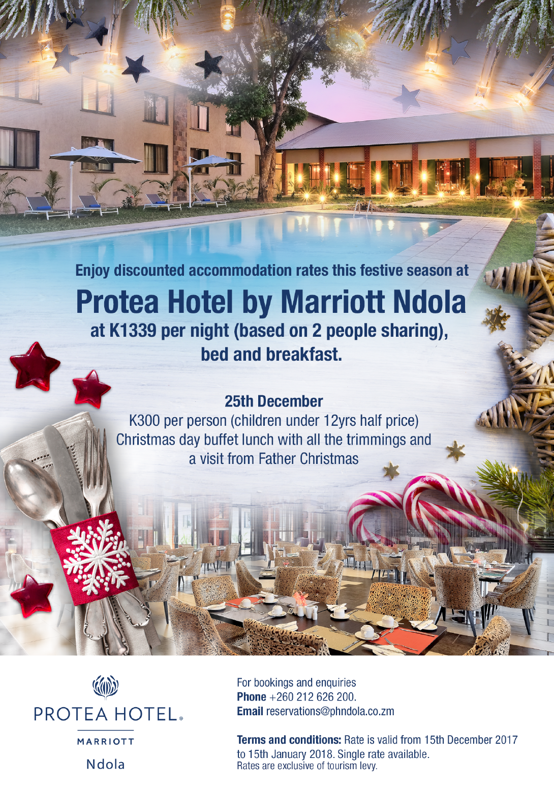 Protea hotel by marriott ndola ad dicts in for Hotel decor 2017