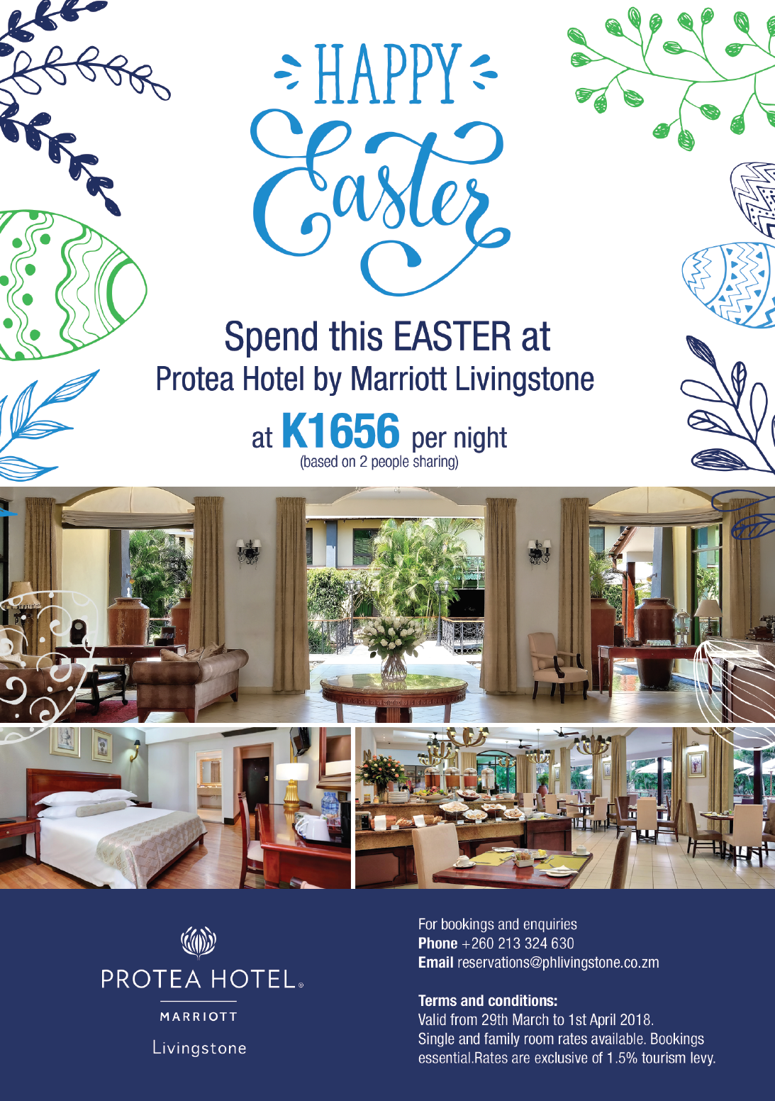 Protea hotel by marriott livingstone easter for Hotel week end